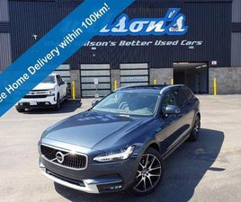 USED 2019 VOLVO V90 CROSS COUNTRY T6 AWD - NAVIGATION, LEATHER, SUNROOF, HEATED + MEMORY S
