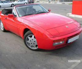 PORSCHE 944 CABRIOLET 3.0 S2 ROUGE D'OCCASION, MOTEUR ESSENCE ET BOITE MANUELLE, 305.900 K