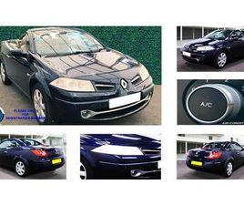2008 RENAULT MEGANE 1.6 PRIVILEGE VVT (111BHP) COUPE CABRIOLET 2D PROACTIVE AUTO - £1,985