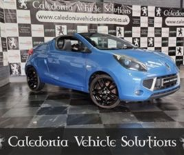 USED 2011 RENAULT WIND 1.1 GT LINE TCE 2D 100 BHP CONVERTIBLE 73,400 MILES IN BLUE FOR SAL