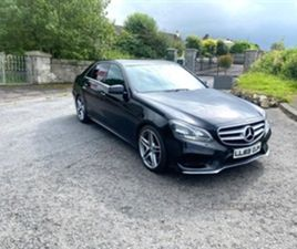 USED 2014 MERCEDES-BENZ E CLASS AMG SPORT CDI AUTO SALOON 99,000 MILES IN BLACK FOR SALE |