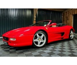 USED 1996 FERRARI F355 SPIDER, 6 SPEED MANUAL CONVERTIBLE 42,300 MILES IN RED FOR SALE | C