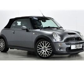 USED 2008 MINI CONVERTIBLE 1.6 COOPER S 2D 168 BHP CONVERTIBLE 61,328 MILES IN GREY FOR SA