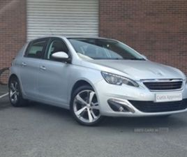 USED 2017 PEUGEOT 308 ALLURE HATCHBACK 28,500 MILES IN SILVER FOR SALE | CARSITE