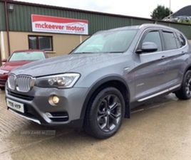 USED 2016 BMW X3 XDRIVE20D XLINE AUTO NOT SPECIFIED 69,000 MILES IN SPACE GREY METALLIC FO