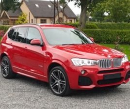 USED 2016 BMW X3 XDRIVE30D M SPORT AUTO NOT SPECIFIED 66,156 MILES IN RED FOR SALE   CARSI
