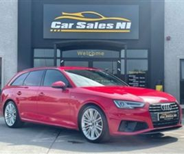 USED 2019 AUDI A4 2.0 AVANT TDI S LINE 5D 188 BHP ESTATE 68,000 MILES IN RED FOR SALE   CA