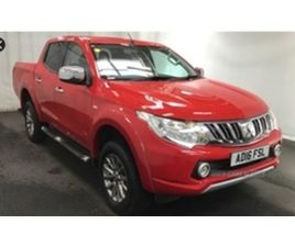 USED 2016 MITSUBISHI L200 TITAN DCB DI-D 4X4 NOT SPECIFIED 48,000 MILES IN RED FOR SALE |