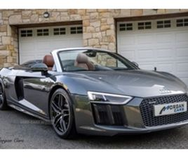 USED 2017 AUDI R8 SPYDER QUATTRO V10 S-A CONVERTIBLE 20,000 MILES IN GREY FOR SALE   CARSI