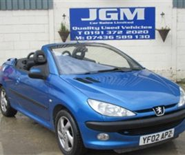 USED 2002 PEUGEOT 206 1.6 S 2DR CONVERTIBLE 80,000 MILES IN BLUE FOR SALE   CARSITE