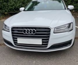 USED 2014 AUDI A8 TDI QUATTRO SPORT EXECUTIVE SALOON 56,782 MILES IN WHITE FOR SALE | CARS