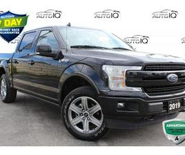 USED 2019 FORD F-150 LARIAT 502A , POWER BOARDS SUNROOF CREW CAB 4X4