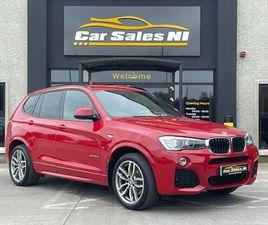 2015 BMW X3 3.0TD XDRIVE30D M SPORT 4X4 - £22,900