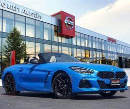 BLUE COLOR 2021 BMW Z4 SDRIVE30I FOR SALE IN AUSTIN, TX 78745. VIN IS WBAHF3C05MWX18514. M