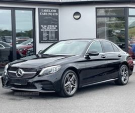 USED 2019 MERCEDES-BENZ C CLASS 220 AMG LINE PREMIUM D SALOON 68,000 MILES IN BLACK FOR SA