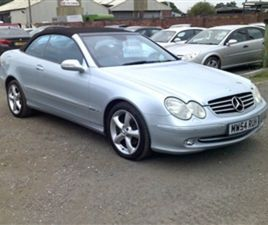 USED 2005 MERCEDES-BENZ CLK CLK240 AVANTGARDE CONVERTIBLE 62,230 MILES IN SILVER FOR SALE