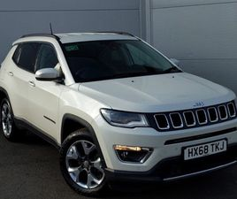 USED 2018 (68) JEEP COMPASS 1.4 MULTIAIR 140 LIMITED 5DR [2WD] IN LINWOOD