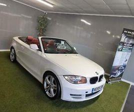 2009 BMW 1 SERIES 118D SPORT 2DR CONVERTIBLE DIESEL MANUAL