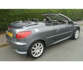 2005 PEUGEOT 206 1.6 CONVERTABLE 85K WORKING ELEC ROOFMOT NEXT MAY LEATHER TRIM