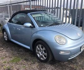 USED 2003 VOLKSWAGEN BEETLE 2.0 CABRIOLET 8V 2D 114 BHP CONVERTIBLE 100,000 MILES IN BLUE