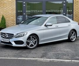 USED 2017 MERCEDES-BENZ C CLASS DIESEL SALOON SALOON 49,000 MILES IN SILVER FOR SALE   CAR