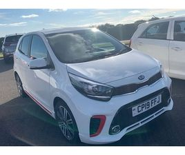 USED 2019 KIA PICANTO 1.0T GDI GT-LINE 5DR HATCHBACK 21,307 MILES IN WHITE FOR SALE   CARS