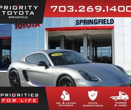 SILVER COLOR 2016 PORSCHE CAYMAN GTS FOR SALE IN SPRINGFIELD, VA 22150. VIN IS WP0AB2A84GK