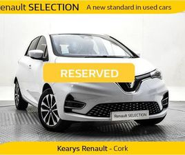 RENAULT ZOE GT LINE R135 Z.E. 50 RAPID CHARGE MY19 FOR SALE IN CORK FOR €25,900 ON DONEDEA