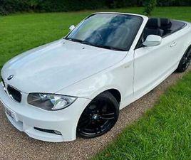 BMW 118D M SPORT 2.0 2009 (09) CONVERTIBLE WHITE DIESEL MANUAL LTHR