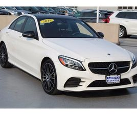 WHITE COLOR 2019 MERCEDES-BENZ C-CLASS C 300 4MATIC FOR SALE IN FAIRFAX, VA 22030. VIN IS