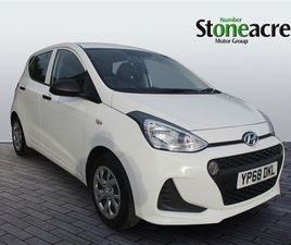 USED 2018 HYUNDAI I10 1.0 S 5DR HATCHBACK 11,489 MILES IN WHITE FOR SALE | CARSITE