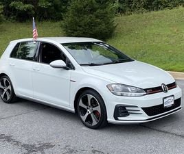 WHITE COLOR 2018 VOLKSWAGEN GOLF GTI S FOR SALE IN MOUNT AIRY, MD 21771. VIN IS 3VW447AU5J