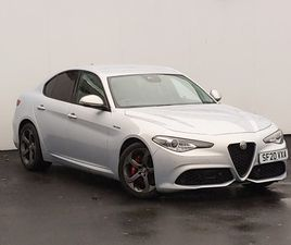 USED 2020 (20) ALFA ROMEO GIULIA 2.0 TB 280 VELOCE [PERFORMANCE BRAKE] 4DR AUTO IN LINWOOD