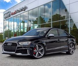 BLACK COLOR 2017 AUDI RS3 FOR SALE IN RALEIGH, NC 27629. VIN IS WUABWGFF2H1900239. MILEAGE