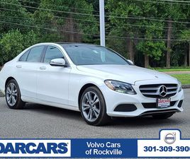 WHITE COLOR 2018 MERCEDES-BENZ C-CLASS C 300 4MATIC FOR SALE IN DERWOOD, MD 20855. VIN IS