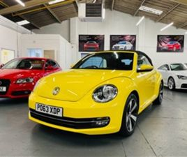 USED 2013 VOLKSWAGEN BEETLE DESIGN TSI CONVERTIBLE 41,314 MILES IN YELLOW FOR SALE | CARSI