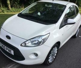 2010 FORD KA 1.2 ZETEC 81000 SERVICE HISTORY £30 TAX EXCEPTIONAL VALUE