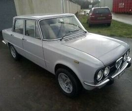 1975 ALFA ROMEO GIULIA 1300 SUPER NUOVA. RUST FREE. 12 MONTHS MOT. UK CAR