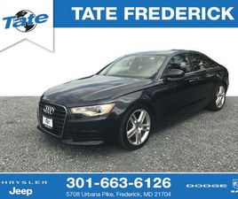 BLUE COLOR 2015 AUDI A6 PREMIUM PLUS FOR SALE IN FREDERICK, MD 21704. VIN IS WAUGFAFC0FN01