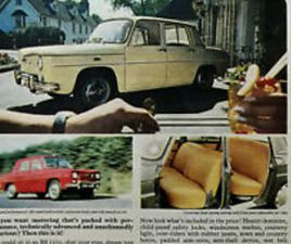 RENAULT R8 1100 WHAT A CAR! MOTORING THAT'S PACKED WITH PERFORMANCE ADVERT 1964