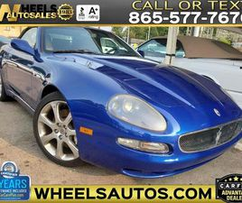 BLUE COLOR 2004 MASERATI SPYDER CAMBIOCORSA FOR SALE IN KNOXVILLE, TN 37920. VIN IS ZAMBB1