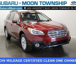 RED COLOR 2017 SUBARU OUTBACK 2.5I PREMIUM FOR SALE IN MOON TOWNSHIP, PA 15108. VIN IS 4S4