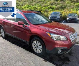 RED COLOR 2017 SUBARU OUTBACK 2.5I PREMIUM FOR SALE IN INDIANA, PA 15701. VIN IS 4S4BSACC0