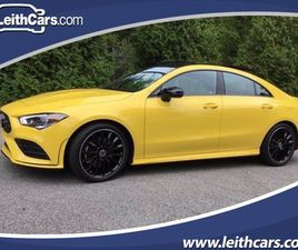 YELLOW COLOR 2020 MERCEDES-BENZ CLA 250 FOR SALE IN RALEIGH, NC 27616. VIN IS WDD5J4GB6LN0
