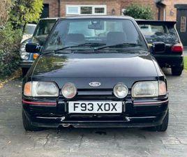 1988 FORD ESCORT XR3I CLASSIC CAR NEW MOT