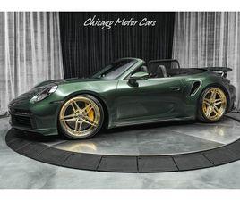 2021 PORSCHE 911 TURBO S CONVERTIBLE RARE PTS OAK GREEN METALLIC OVER $30K+ IN UPGRADES!