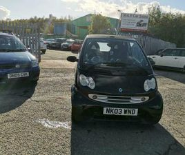 2003 (03) SMART FORTWO 0.7 CITY PULSE CABRIOLET 2DR CONVERTIBLE £900