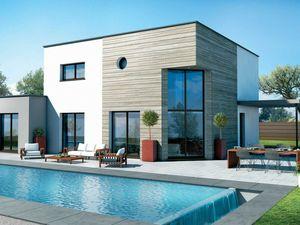 Villa contemporaine au bord du canal du midi ...