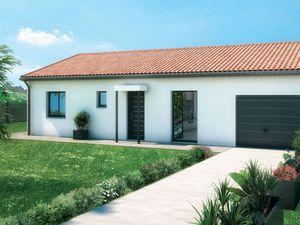 Maison plain-pied+ 3 chambres+ terrain 742m²