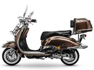 MOTORROLLER RETRO ROLLER SCOOTER 125CCM E4 BRAUN MOKKA NEU